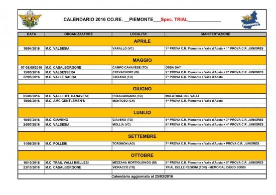 piemonte-2016 calendario gare